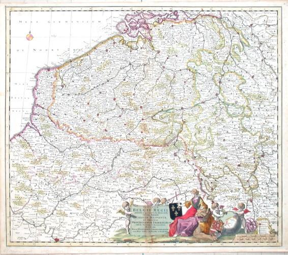 Provinciae Belgii Regii  tabula novissima et accuratissima - Antique map