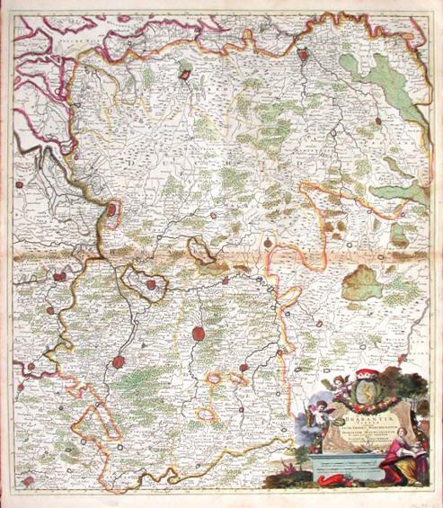 Ducatus Brabantiae tabula - Antique map