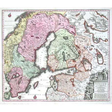Nova mappa geographica Sueciae ac Gothiae Regna ut et Finlandiae Ducatum ac Lapponiam, cum provinciis minoribus