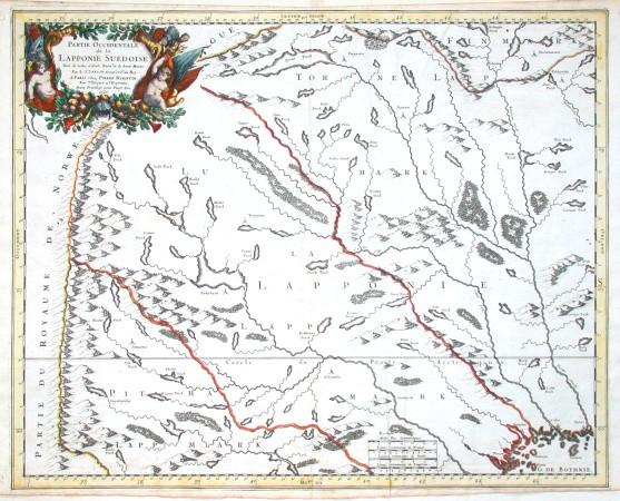 Partie occidentale de la Lapponie Suedoise - Stará mapa