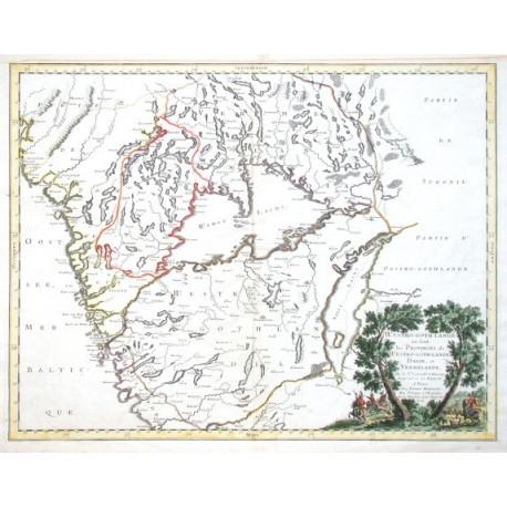 Westro-goth-lande ou sont les Provinces de Westro-goth-lande, Dalie, et Vermelande