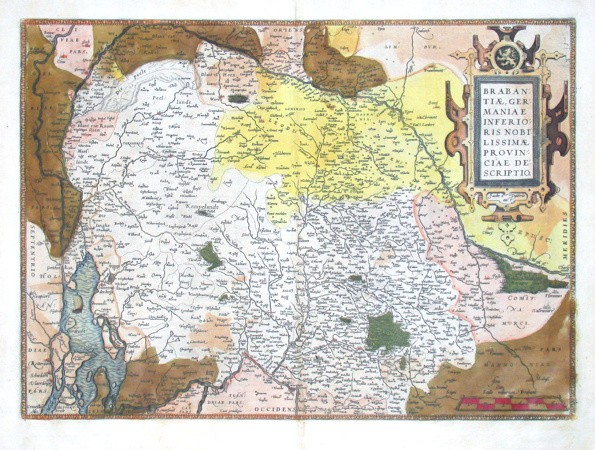 Brabantiae,  provinciae descriptio - Antique map
