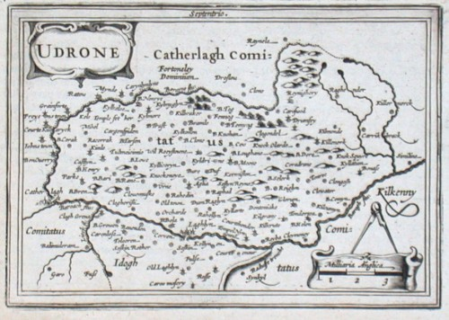 Udrone - Alte Landkarte
