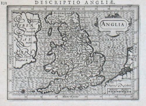 Anglia - Alte Landkarte