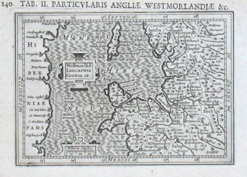 Westmorland: Lancastria Cestria etc. - Alte Landkarte