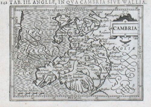 Cambria - Alte Landkarte