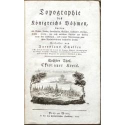 Topographie des Königreichs Böhmen ... Sechster Theil. Czaslauer Kreis