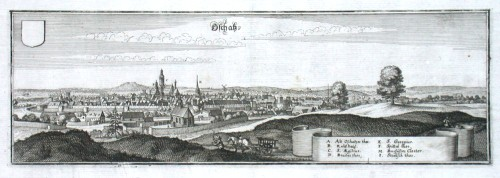 Oschatz - Alte Landkarte