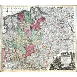 Circulus Westphalicus In suas Provincias et Ditiones accurate distinctus et recentissime delineat. cura et caelo Matth.