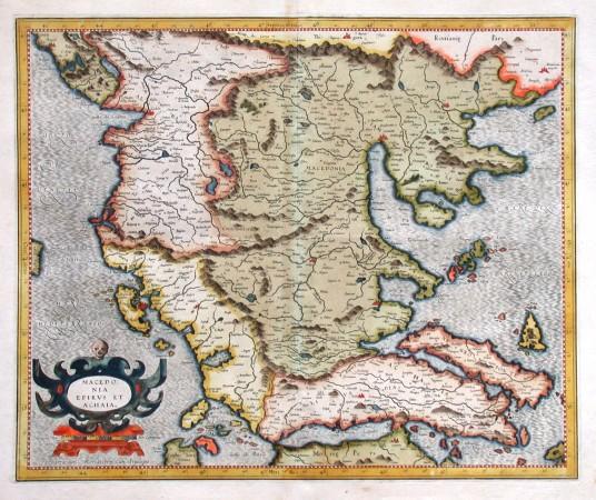 Macedonia, Epirus et Achaia - Alte Landkarte