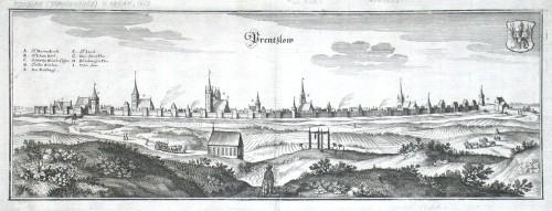 Prentzlow - Alte Landkarte