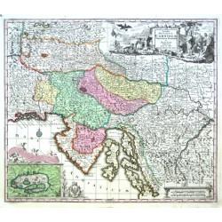 Slowenien, Kroatien - Exactissima Ducatus Carniolae Vinidorum Marchiä et Histriae delineatio