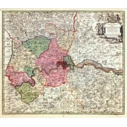 Delineatio ac finitima Regio Magnae Brittaniae Metropoleos Londini
