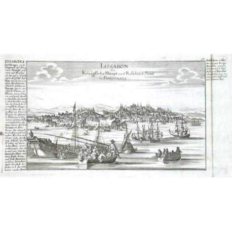 Lissabon die Königliche Haupt und Residenz Statt in Portugal