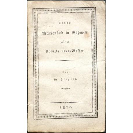 Bemerkungen über Marienbad in Böhmen