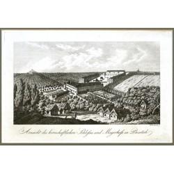 Ansicht des herrschaftlichen Schlosses und Mayerhofs in Prosetsch
