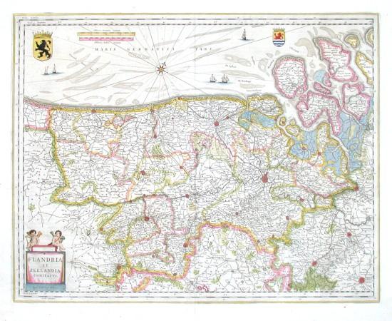 Flandria et Zeelandia Comitatvs - Stará mapa