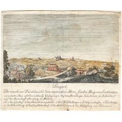 Prospect  Der ... Bau und Einrichtungs Verfügungen bey dem Sternberger Sauerbrunn zu Andersdorf