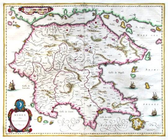 Morea olim Peloponnesus - Alte Landkarte