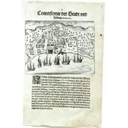 Conterfeytur der Stadt und Festung Amboina