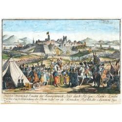 Helden Stürmende Einahm der Festung türkisch Novi durch ... Baron v. Laudon