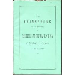 Zur Erinnerung an die Enthüllung des Lanna-Monumentes