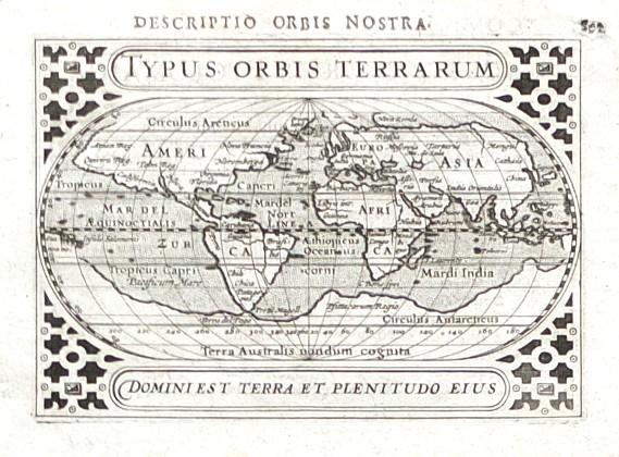 Typus Orbis Terrarum - Alte Landkarte