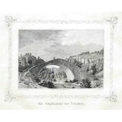Die Schafbrücke bei Tetschen