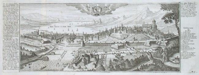 Geneve Genff - Stará mapa