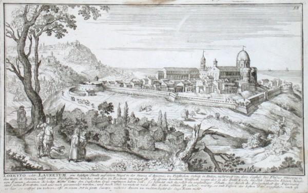 Loretto oder Lauretum eine befestige Stadt  in der Marca d'Ancona