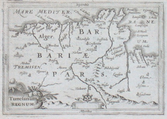 Tunetanum Regnum - Stará mapa