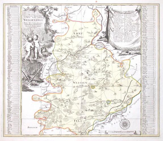 Accurate Geographische Delineation des Hochfs. Sachß. Amtes Weissenfels Nebst allen darzu gehörigen Städten Flecken