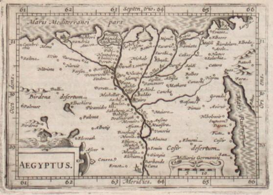 Aegyptus - Alte Landkarte