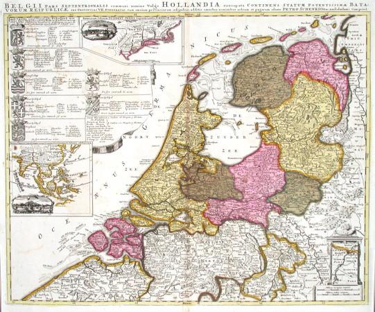 Belgii pars septentrionalis  vulgo Hollandia - Antique map