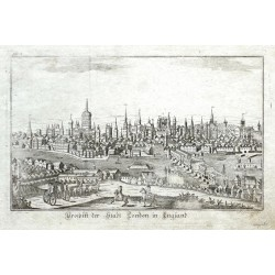 Prospekt der Stadt London in England