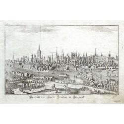 Prospekt der Stadt London in England