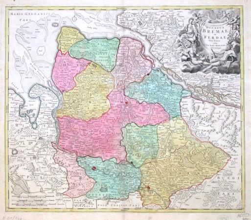 Ducatus Bremae et Ferdae Nova Tabula - Alte Landkarte