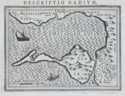 Baia de Cadis - Antique map