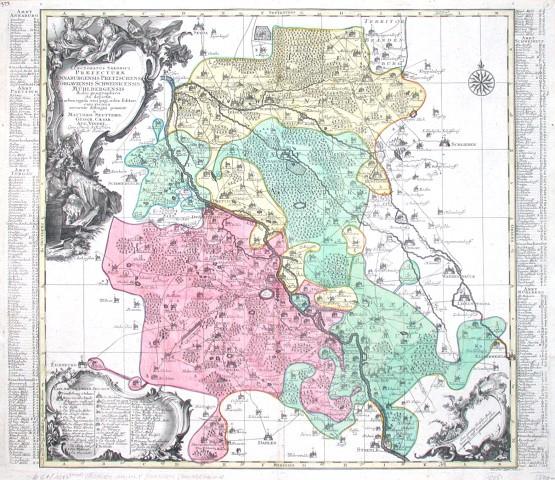 Electoratus Saxonici Praefecturae Annaburgensis Pretzschens, Torgauiensis, Schweinicensis, Mühlenbergensis studio - Antique map