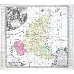Delineatio geographica Praefecturarum Wittebergenis, Et Graefenhaynichen, in circulo electorali sitarum