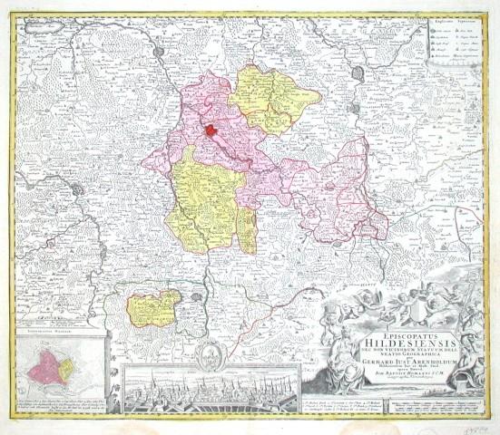 Episcopatus Hildesiensis nec non vicinorum Statuum delineatio Geographica - Alte Landkarte