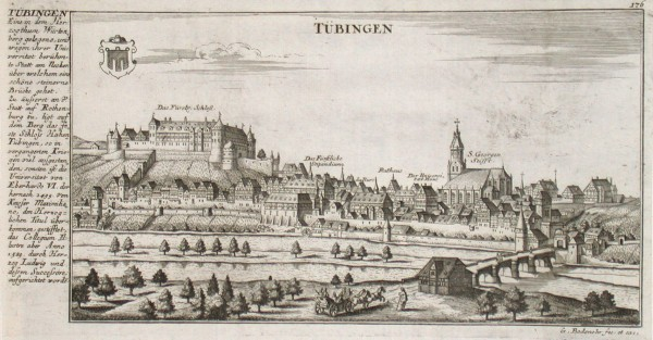 Tübingen - Alte Landkarte