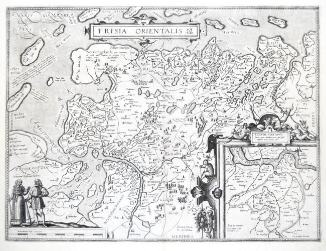 Frisia Orientalis - Antique map