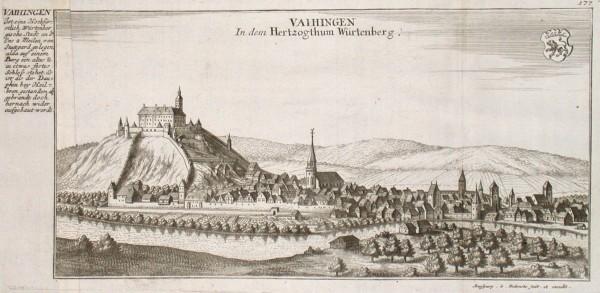 Vaihingen In dem Hertzogthum Würtenberg - Alte Landkarte