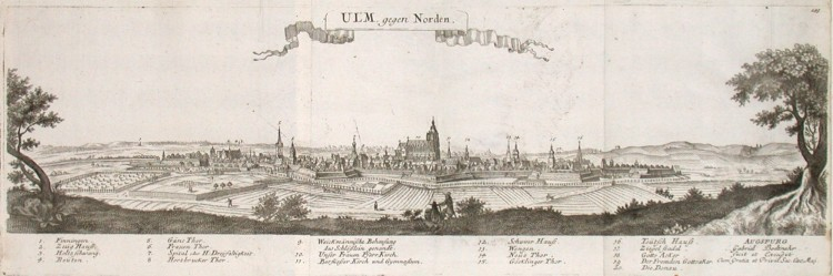 Ulm gegen Norden - Stará mapa