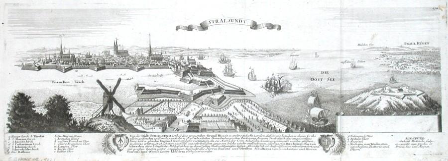 Stralsundt - Alte Landkarte