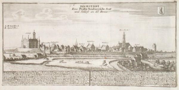 Höchstaedt. Eine Pfaltz Neuburgische Statt und Schloss an der Donau