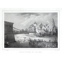 Die Kettenbrücke bei Jaromirsch