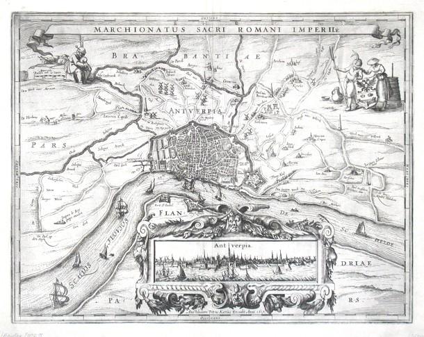 Antwerp - Marchionatus Sacri Romani Imperii - Antique map