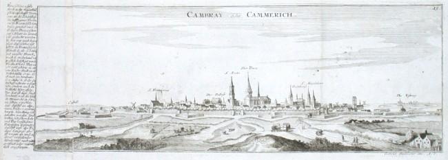 Cambray oder Cammerich - Alte Landkarte